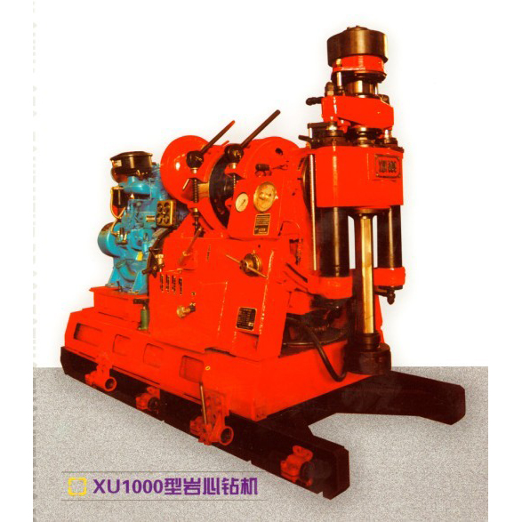XU1000 type core drilling machine integrates the advantages of spindle type drilling rigs.