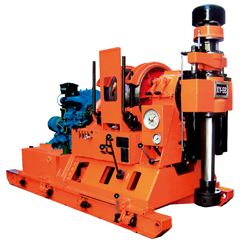 XY-6B/6N type core drill rig is a spindle type drilling machine with mechanical and hydraulic transmission